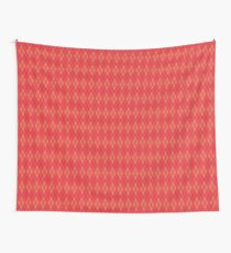 Pink and Pink Argyle Wall Tapestry