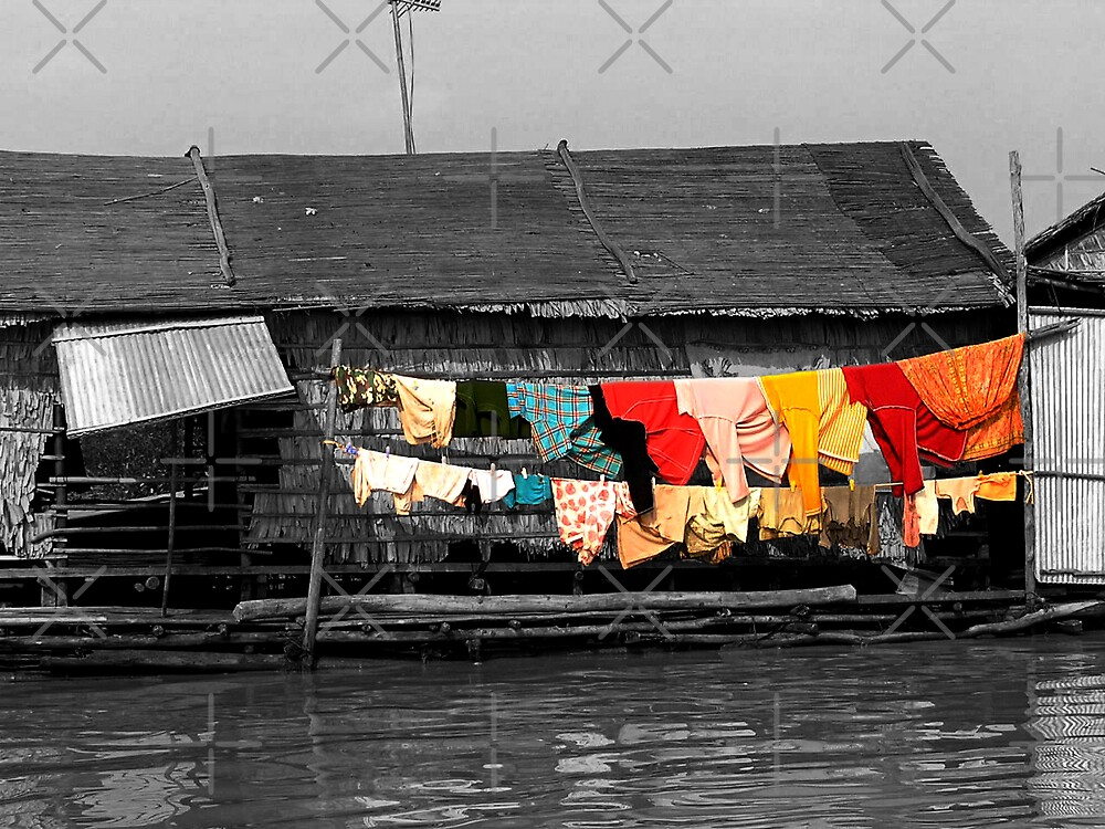 Colourful Clothes at Tonle Sap by fatfatin