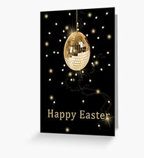 Disco Ball Easter Egg Greeting Card