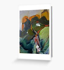 Fabricated Mountainscape Greeting Card