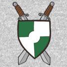 Green Shield Double Swords by RiverbyNight