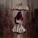 Redhead in the Rain by WishesandWhims