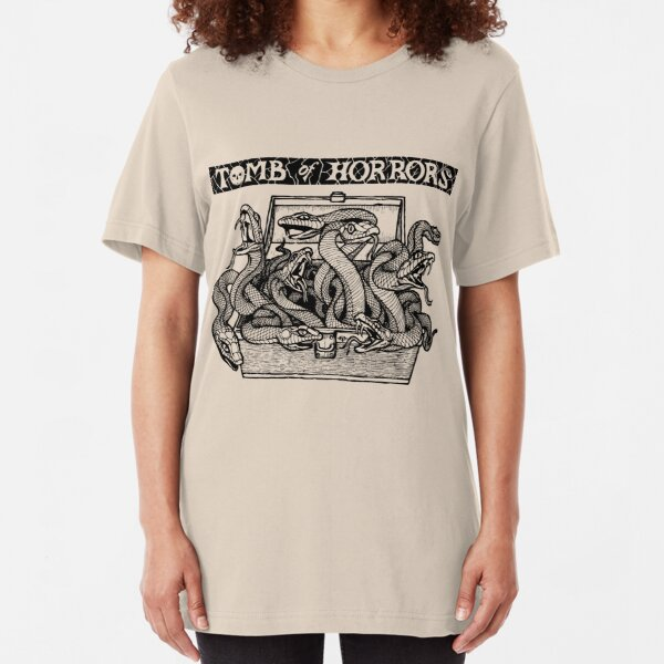 Tomb of Horrors: Snakes (Light Tee) Slim Fit T-Shirt
