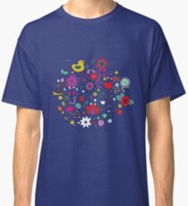 Ducks and Frogs in the Garden - cute floral pattern by Cecca Designs Classic T-Shirt