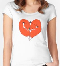 Foxes Mate for Life Women's Fitted Scoop T-Shirt