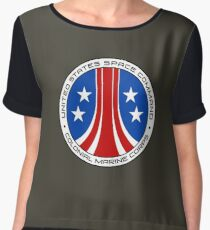 United States Colonial Marine Corps Insignia - Aliens Chiffon Top
