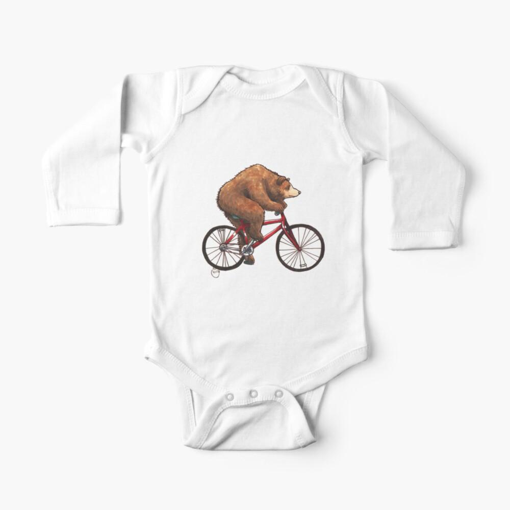 Bear on a Bike Baby One-Piece