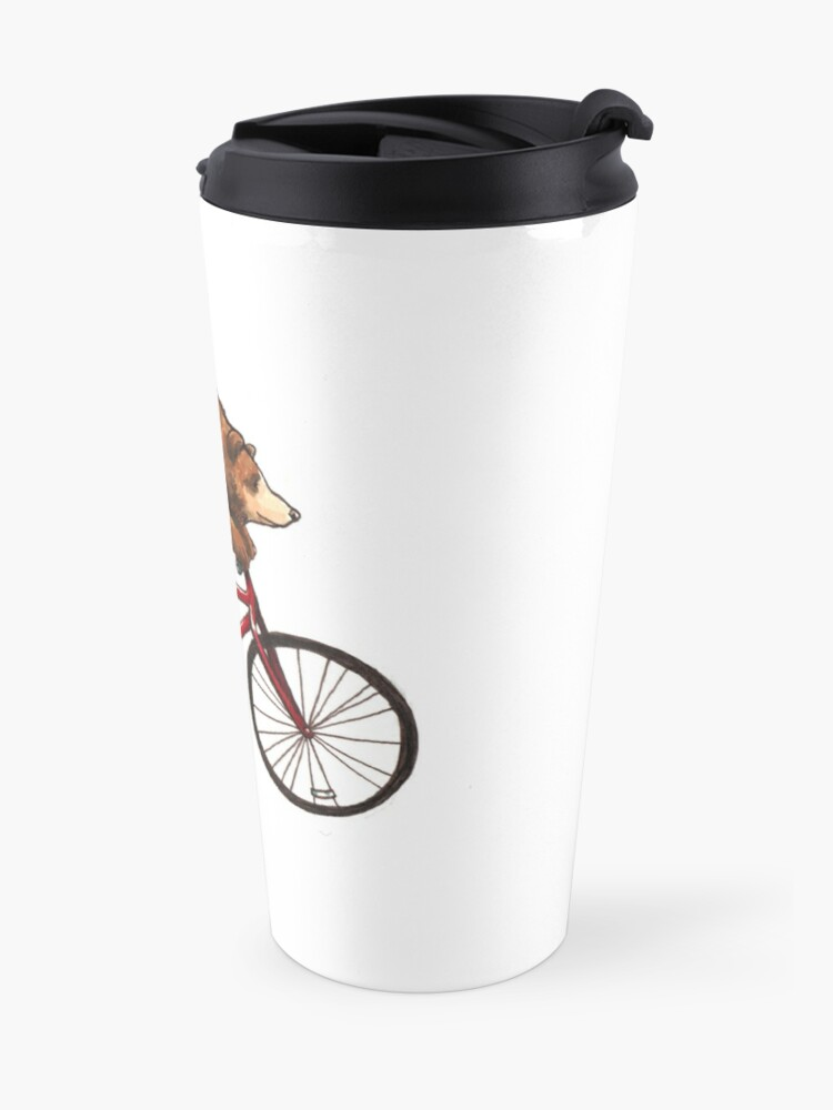 Alternate view of Bear on a Bike Travel Mug