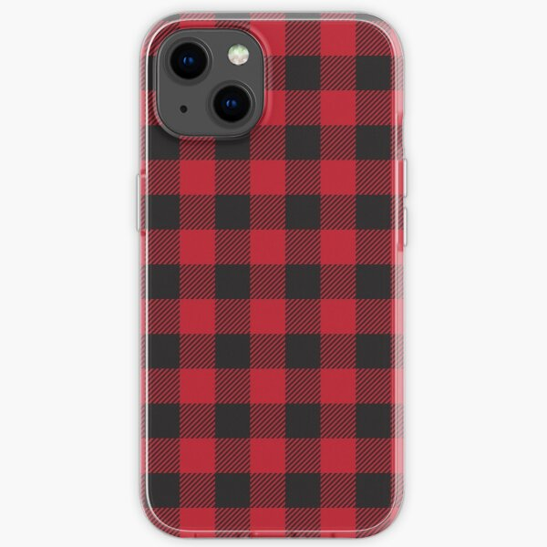 Red and Black Buffalo Plaid  iPhone Soft Case