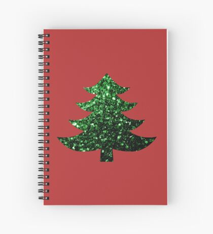Sparkly Christmas tree green sparkles  Spiral Notebook