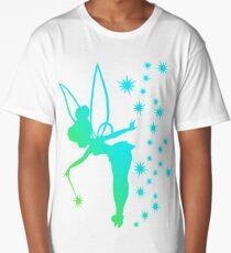Tinkerbell Ombre Sillhouette Long T-Shirt