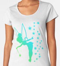 Tinkerbell Ombre Sillhouette Women's Premium T-Shirt
