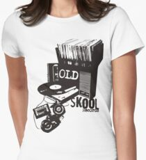 Oldskool Records Women's Fitted T-Shirt
