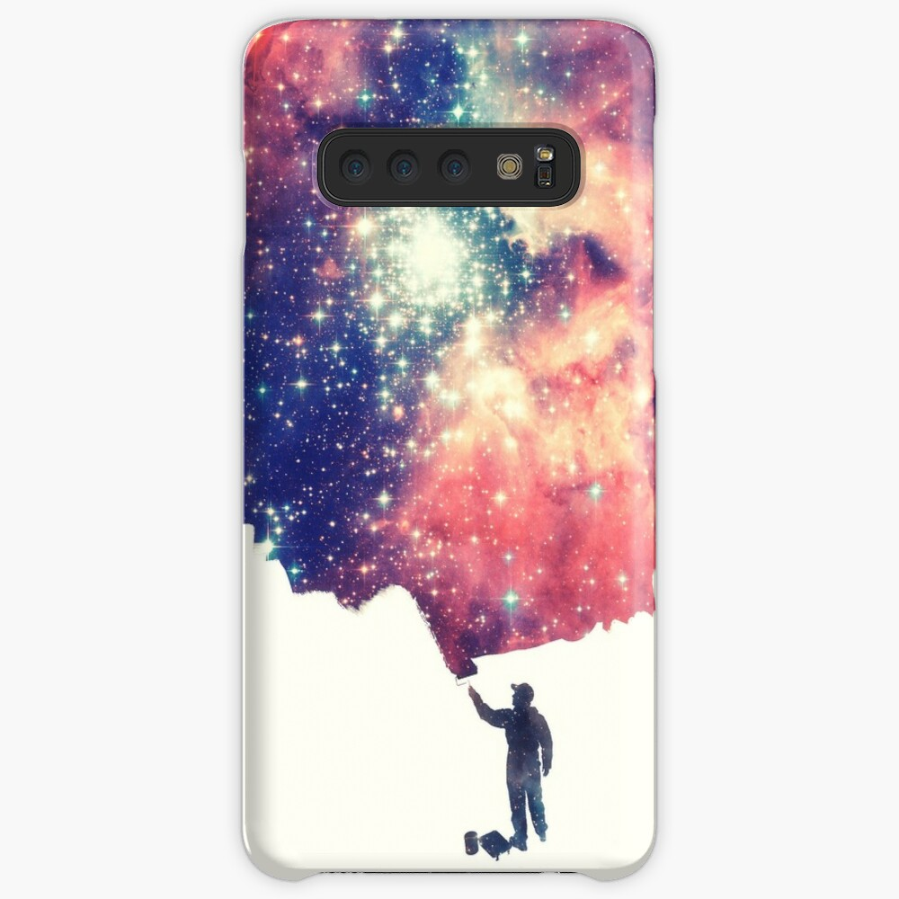 Painting the universe (Colorful Negative Space Art) Case & Skin for Samsung Galaxy