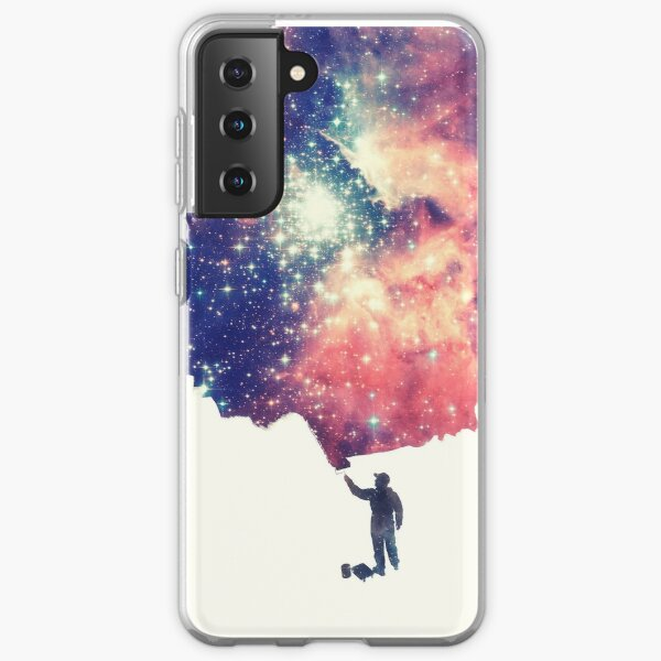 Painting the universe (Colorful Negative Space Art) Samsung Galaxy Soft Case