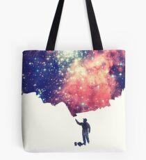 Bolsa de tela Pintar el universo (arte espacial colorido y negativo)