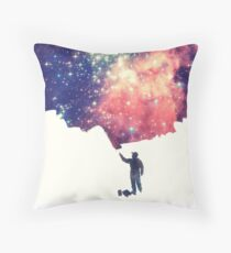 Painting the universe (Colorful Negative Space Art) Throw Pillow