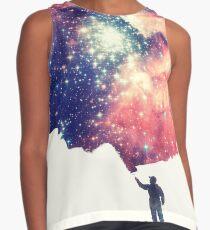 Blusa sin mangas Pintar el universo (arte espacial colorido y negativo)
