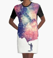Painting the universe (Colorful Negative Space Art) Graphic T-Shirt Dress