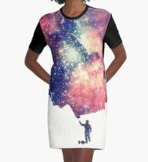 Vestido camiseta Pintar el universo (arte espacial colorido y negativo)
