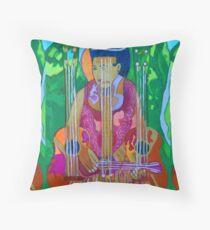 Ukulele: Four Strings  Throw Pillow