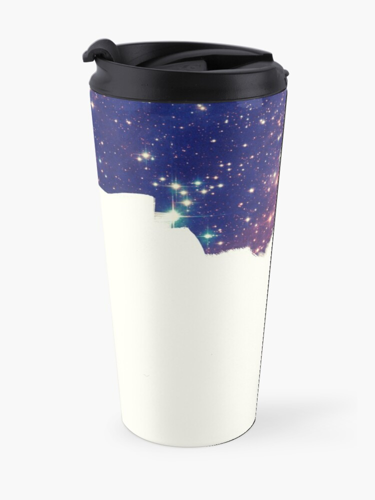 Alternate view of Painting the universe (Colorful Negative Space Art) Travel Mug