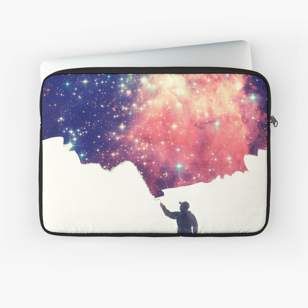 Painting the universe (Colorful Negative Space Art) Laptoptasche