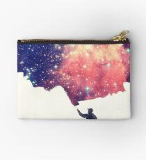 Painting the universe (Colorful Negative Space Art) Studio Clutch