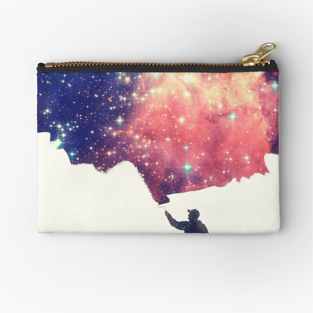 Painting the universe (Colorful Negative Space Art) Zipper Pouch