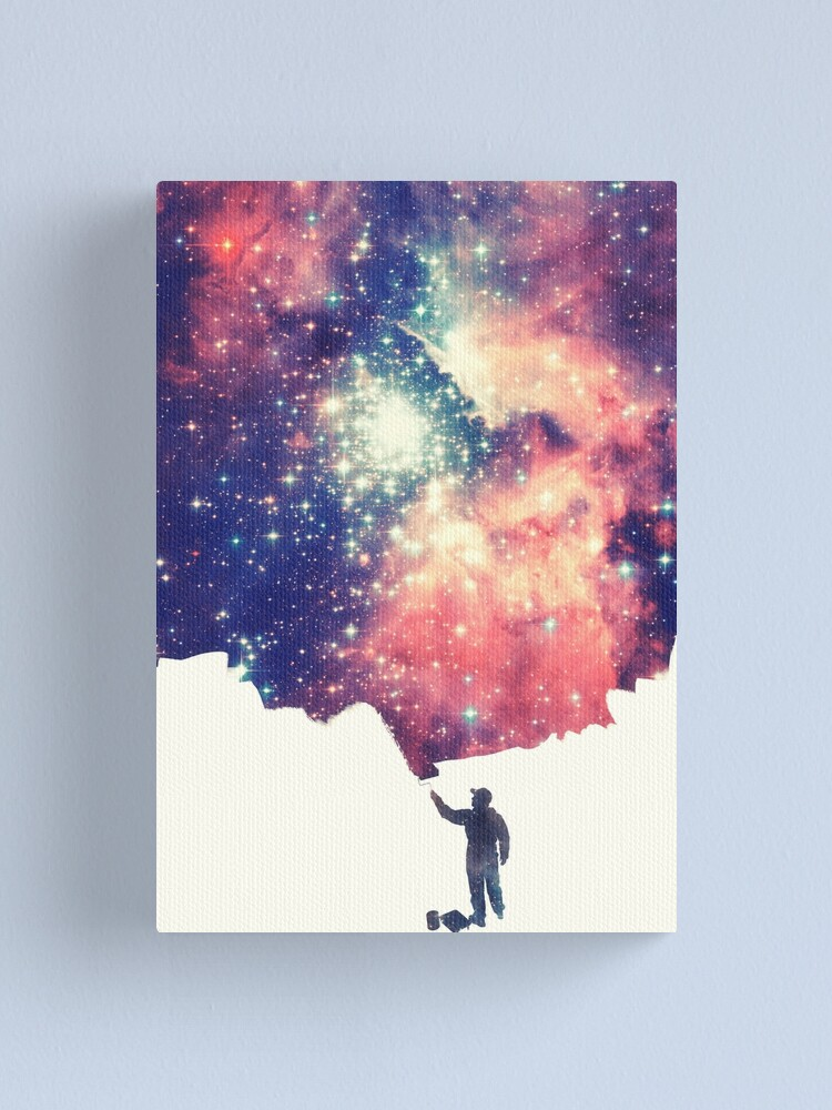 Alternate view of Painting the universe (Colorful Negative Space Art) Canvas Print