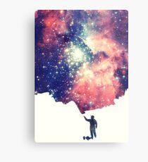 Lámina metálica Pintar el universo (arte espacial colorido y negativo)