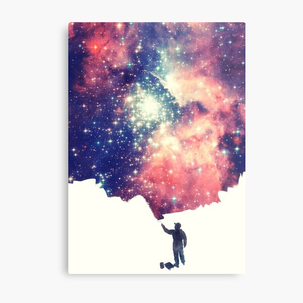 Painting the universe (Colorful Negative Space Art) Metal Print