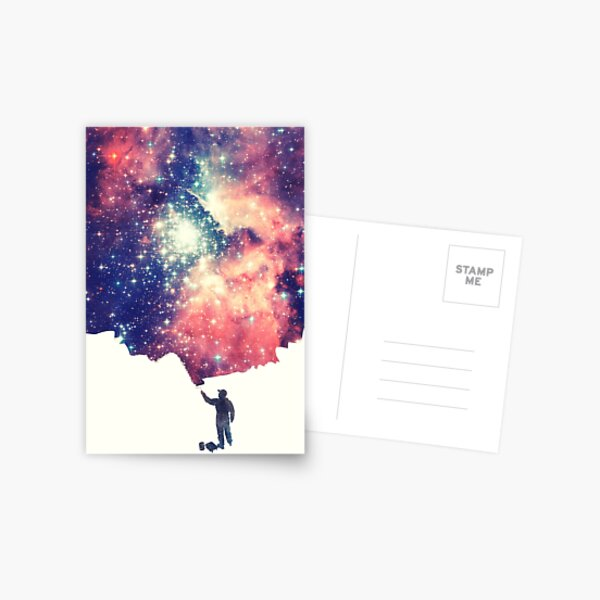 Painting the universe (Colorful Negative Space Art) Postcard