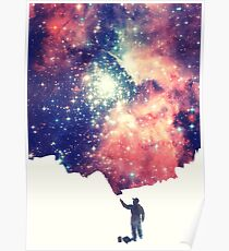 Painting the universe (Colorful Negative Space Art) Poster