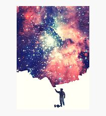 Painting the universe (Colorful Negative Space Art) Fotodruck