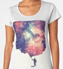 Painting the universe (Colorful Negative Space Art) Premium Rundhals-Shirt