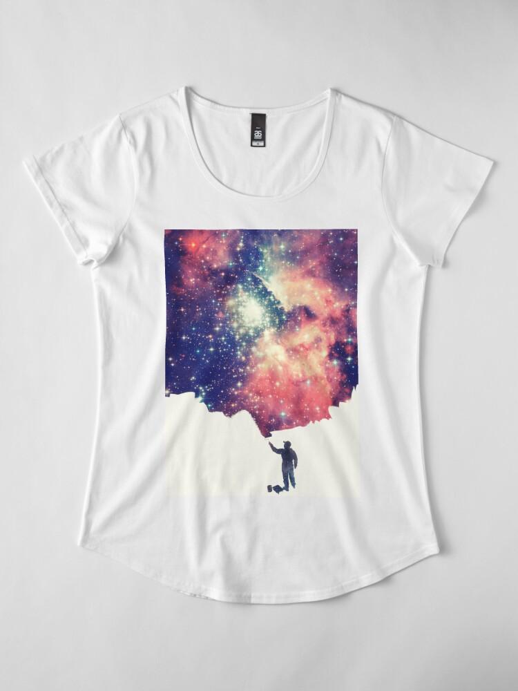 Alternative Ansicht von Painting the universe (Colorful Negative Space Art) Premium Rundhals-Shirt