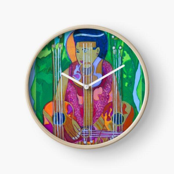 Ukulele: Four Strings  Clock