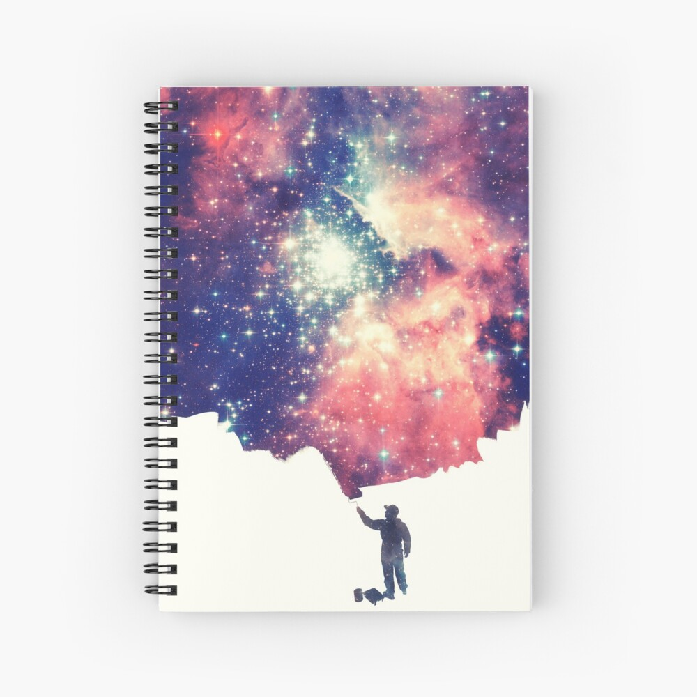 Painting the universe (Colorful Negative Space Art) Spiral Notebook