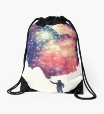 Painting the universe (Colorful Negative Space Art) Drawstring Bag