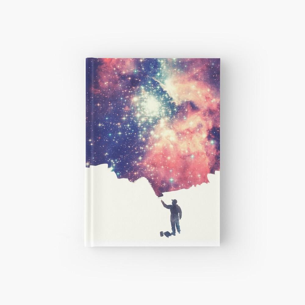 Painting the universe (Colorful Negative Space Art) Notizbuch