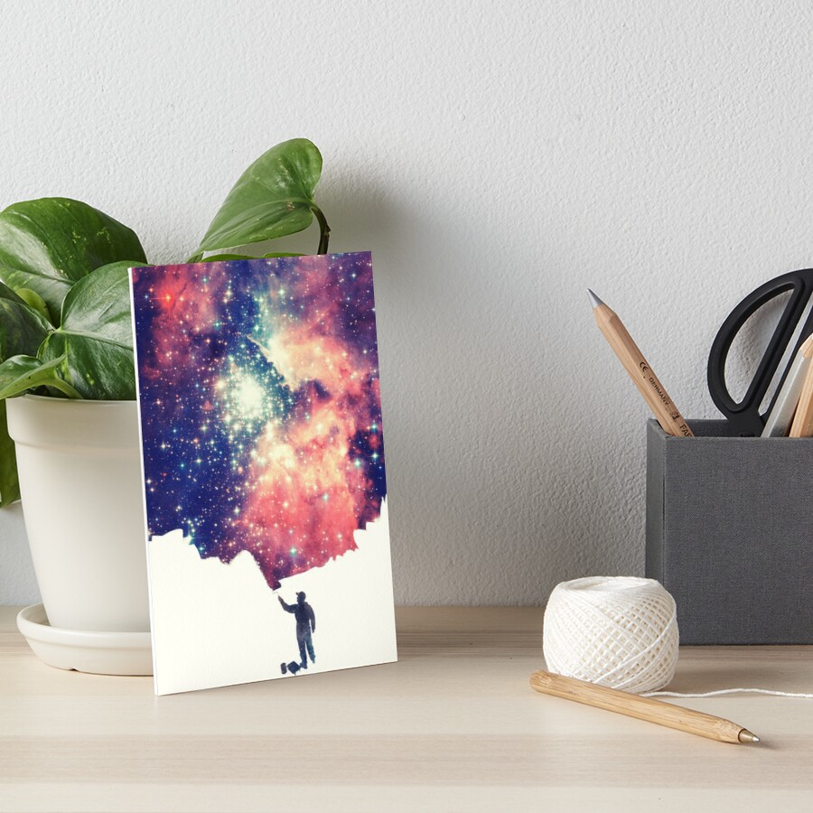 Painting the universe (Colorful Negative Space Art) Art Board Print