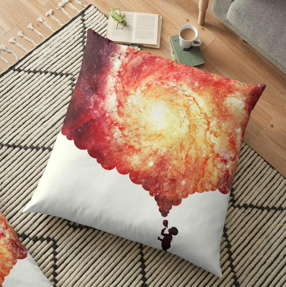 The universe in a soap-bubble! Floor Pillow