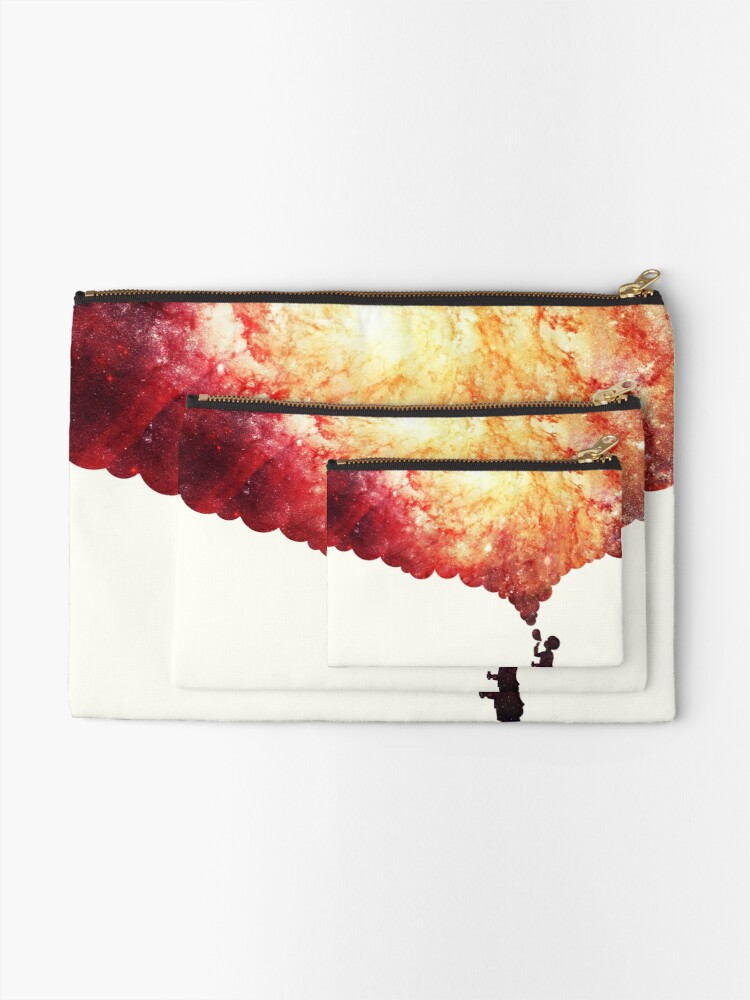 Alternate view of The universe in a soap-bubble! Zipper Pouch