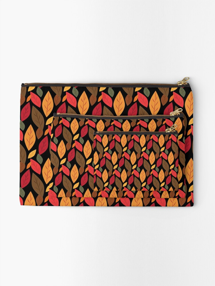 Alternate view of Autumn Leaves Zipper Pouch