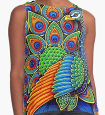 Colorful Paisley Peacock Bird Contrast Tank