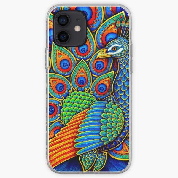 Colorful Paisley Peacock Rainbow Bird iPhone Soft Case