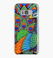 Colorful Paisley Peacock Bird Samsung Galaxy Case/Skin