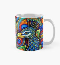 Colorful Paisley Peacock Bird Mug