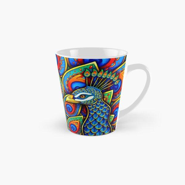 Colorful Paisley Peacock Rainbow Bird Tall Mug